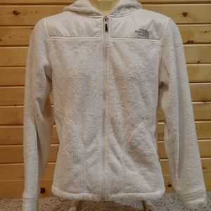 North face furry fleece hoodie small white hoody